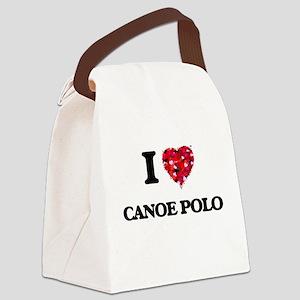 I Love Canoe Polo Canvas Lunch Bag