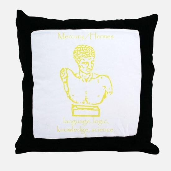 Mercury Yellow Throw Pillow