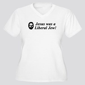Jesus Was a Liberal Jew Women's Plus Size V-Neck