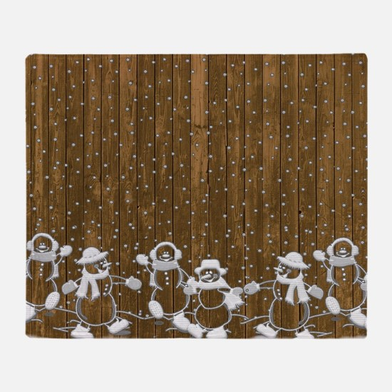 Christmas Snowmen Throw Blanket