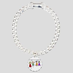 Cute Kids Cartoon Charm Bracelet, One Charm