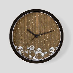 Christmas Snowmen Wall Clock