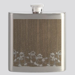 Christmas Snowmen Flask