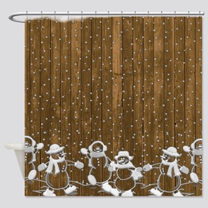 Christmas Snowmen Shower Curtain