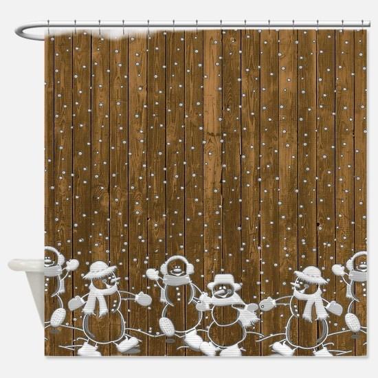 Christmas Snowmen Shower Curtain