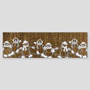Christmas Snowmen Bumper Sticker