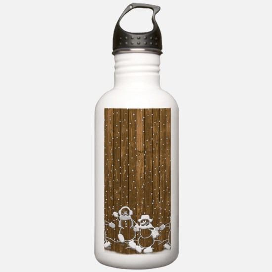 Christmas Snowmen Water Bottle