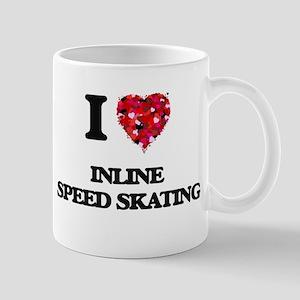 I Love Inline Speed Skating Mugs