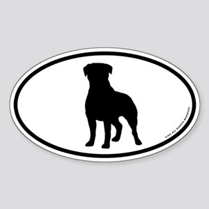 Rottweiler Oval Sticker