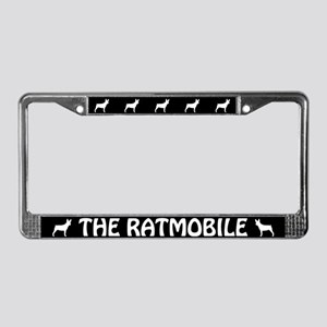 "Rat Terrier ""The Ratmobile"" License Plate Frame"