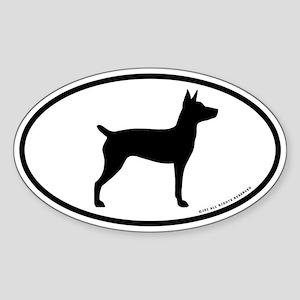 Rat Terrier Oval Sticker