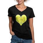 Hug your Kids Heart Women's V-Neck Dark T-Shirt
