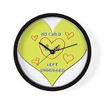 Hug your Kids Heart Wall Clock