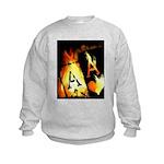 Hot Flaming Poker Aces Kids Sweatshirt