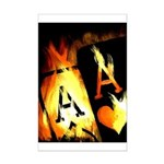 Hot Flaming Poker Aces Mini Poster Print