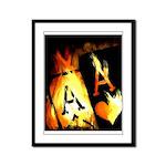 Hot Flaming Poker Aces Framed Panel Print