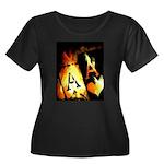 Hot Flaming Poker Aces Women's Plus Size Scoop Nec