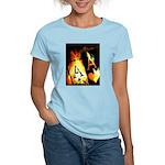 Hot Flaming Poker Aces Women's Light T-Shirt