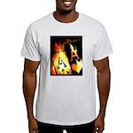Hot Flaming Poker Aces Light T-Shirt