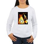 Hot Flaming Poker Aces Women's Long Sleeve T-Shirt