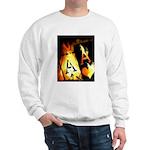 Hot Flaming Poker Aces Sweatshirt