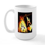 Hot Flaming Poker Aces Large Mug