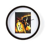 Hot Flaming Pocket Kings Wall Clock