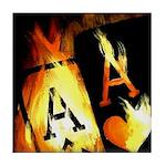 Hot Flaming Poker Aces Tile Coaster