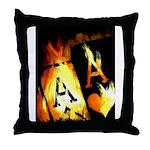 Hot Flaming Poker Aces Throw Pillow