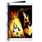 Hot Flaming Poker Aces Journal