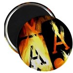 """Hot Flaming Poker Aces 2.25"""" Magnet (10 pack)"""