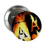 """Hot Flaming Poker Aces 2.25"""" Button (10 pack)"""