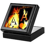 Hot Flaming Poker Aces Keepsake Box