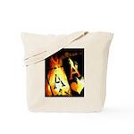 Hot Flaming Poker Aces Tote Bag