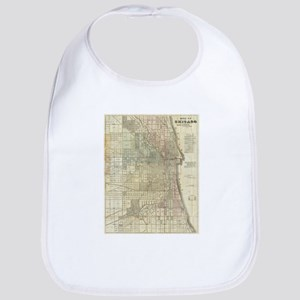 Vintage Map of Chicago (1857) Bib