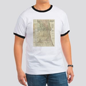 Vintage Map of Chicago (1857) T-Shirt
