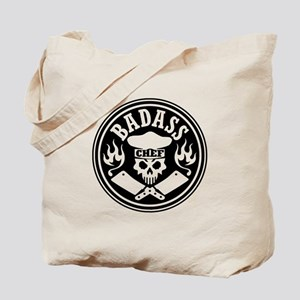Badass Chef Black Tote Bag