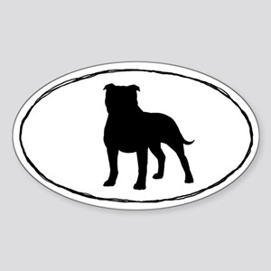 Staffordshire Bull Terrier Oval Sticker