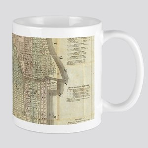 Vintage Map of Chicago (1857) Mugs