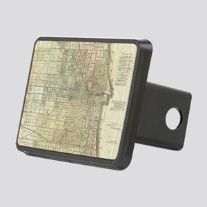 Vintage Map of Chicago (18 Rectangular Hitch Cover