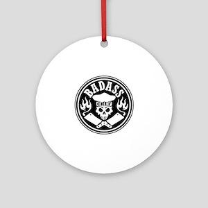 Badass Chef Black Round Ornament