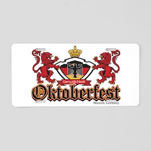 Oktoberfest Lions Aluminum License Plate