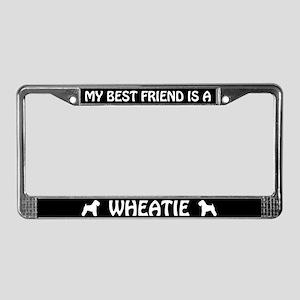 My Best Friend Is A Wheatie License Plate Frame