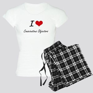 I love Conscientious Object Women's Light Pajamas