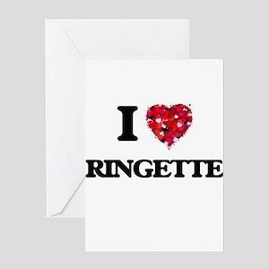 I Love Ringette Greeting Cards