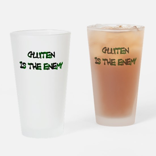 Gluten Is The Enemy Drinking Glass