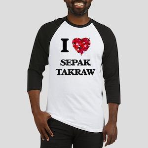 I Love Sepak Takraw Baseball Jersey