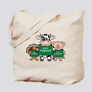 Eat Veggies Tote Bag