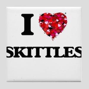 I Love Skittles Tile Coaster