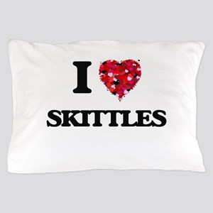 I Love Skittles Pillow Case